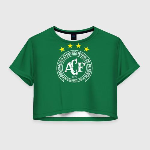 Женская футболка Crop-top 3D Шапекоэнсе