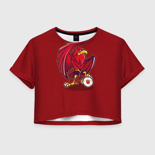 Женская футболка Crop-top 3D Шанхай