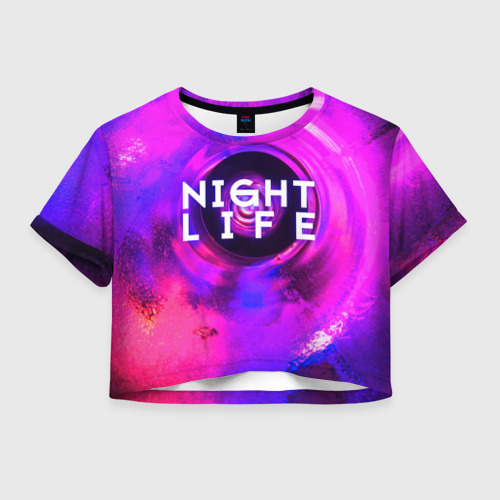 Женская футболка Crop-top 3D Night life