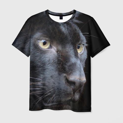 Мужская футболка 3D Черная пантера