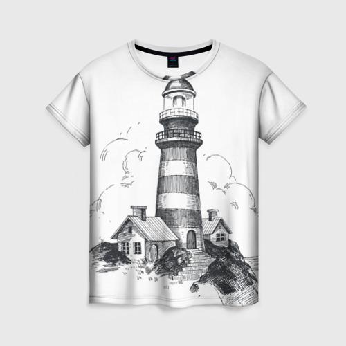 Женская футболка 3D Маяк