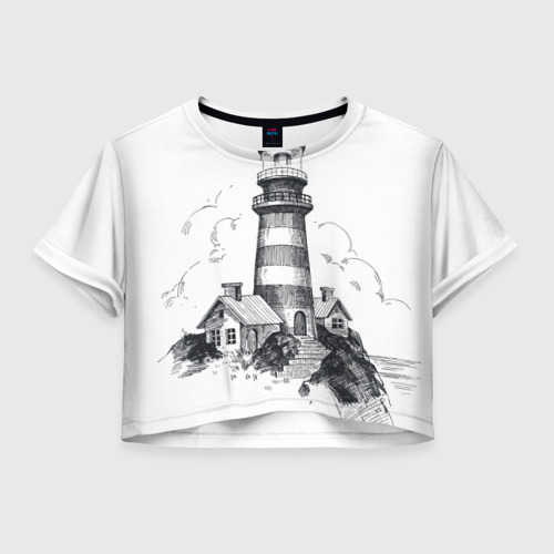 Женская футболка Crop-top 3D Маяк