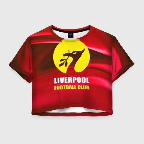 Женская футболка Crop-top 3D Liverpool