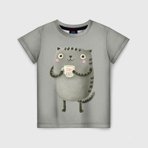 Детская футболка 3D Cat Love Kill