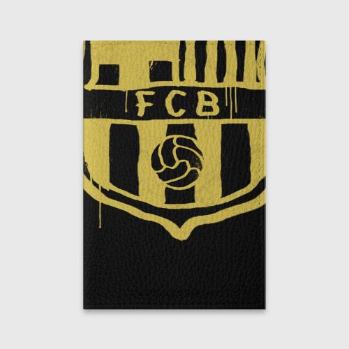Обложка для паспорта матовая кожа FC Barcelona - Yellow Paint (Оригинальный стиль,рисунок краской)