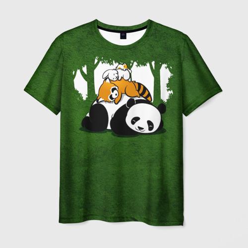 Мужская футболка 3D Милая панда