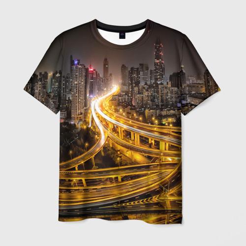 Мужская футболка 3D Шанхай, Китай