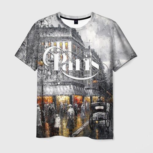 Мужская футболка 3D Улицы Парижа
