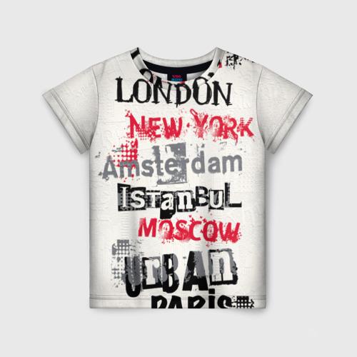 Детская футболка 3D Города