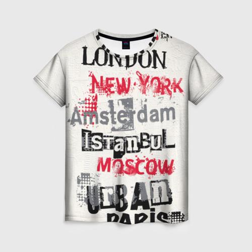 Женская футболка 3D Города