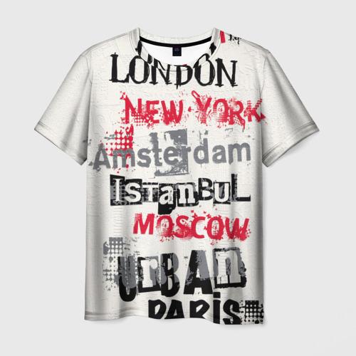 Мужская футболка 3D Города