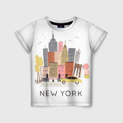 Детская футболка 3D Нью-Йорк