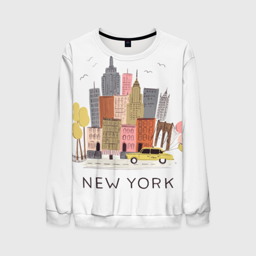 Мужской свитшот 3D Нью-Йорк