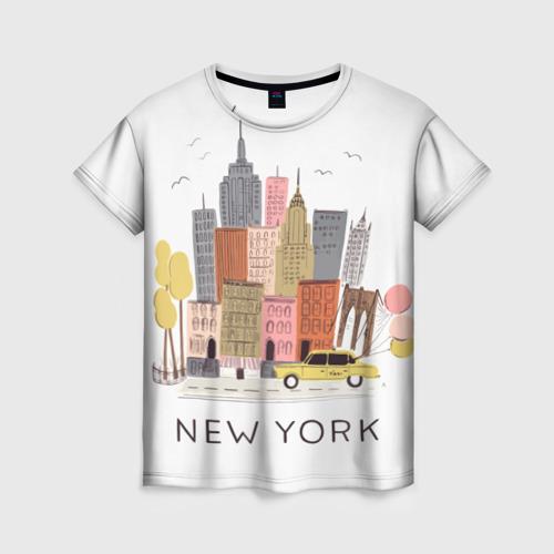 Женская футболка 3D Нью-Йорк
