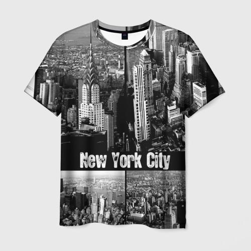 Мужская футболка 3D Улицы Нью-Йорка