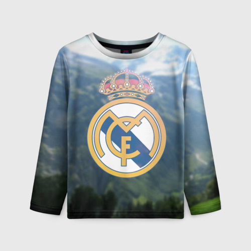 Детский лонгслив 3D Реал Мадрид