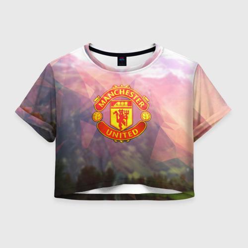 Женская футболка Crop-top 3D Манчестер