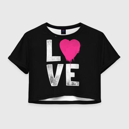 Женская футболка Crop-top 3D Love