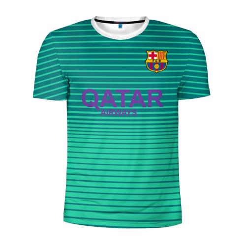 Мужская футболка 3D спортивная Барселона