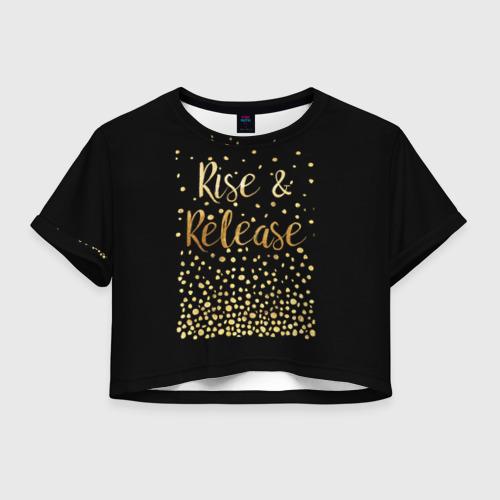 Женская футболка Crop-top 3D Rise & Release