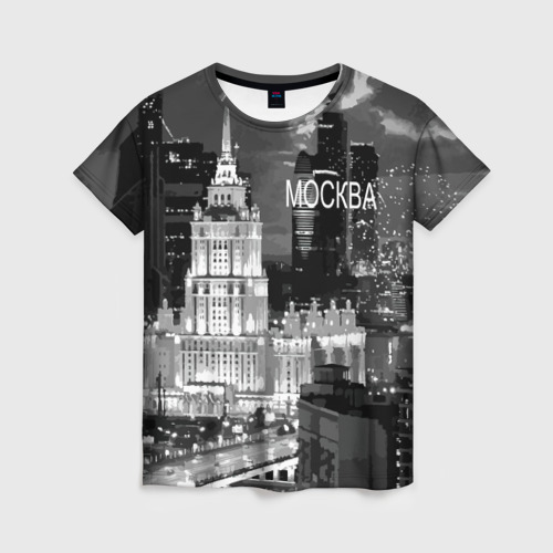 Женская футболка 3D Москва