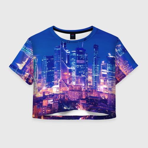 Женская футболка Crop-top 3D Москва