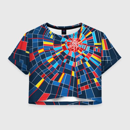 Женская футболка Crop-top 3D Diamond Of Love