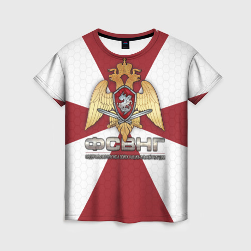 Женская футболка 3D ФСВНГ (Росгвардия)