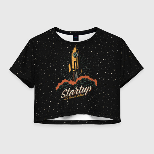 Женская футболка Crop-top 3D Startup Space