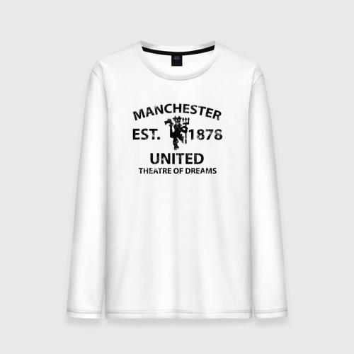 Мужской лонгслив хлопок Manchester United - Est.1878 (Чёрный)