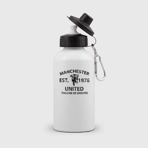 Бутылка спортивная Manchester United - Est.1878 (Чёрный)
