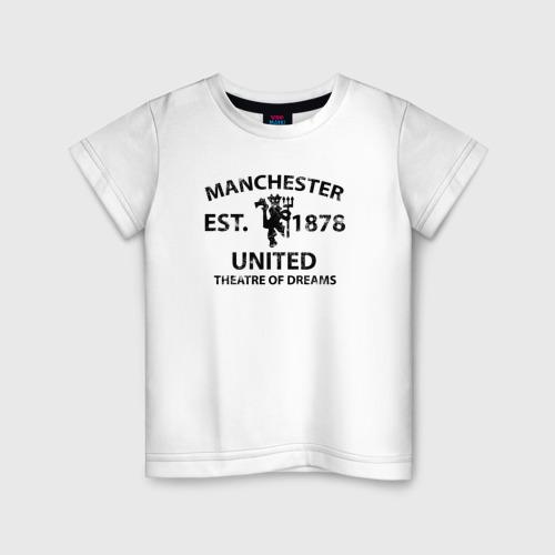 Детская футболка хлопок Manchester United - Est.1878 (Чёрный)