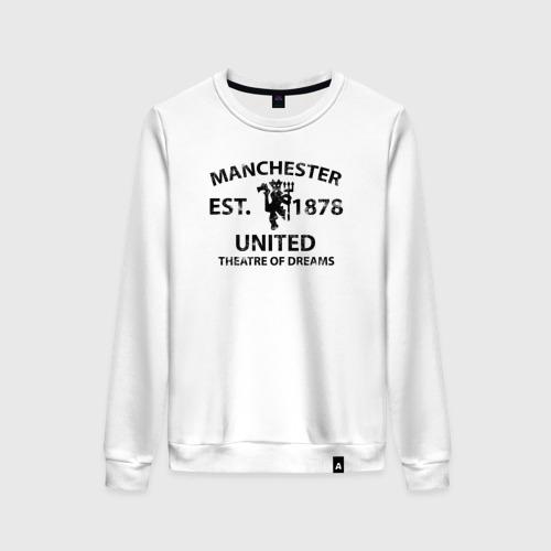 Женский свитшот хлопок Manchester United - Est.1878 (Чёрный)