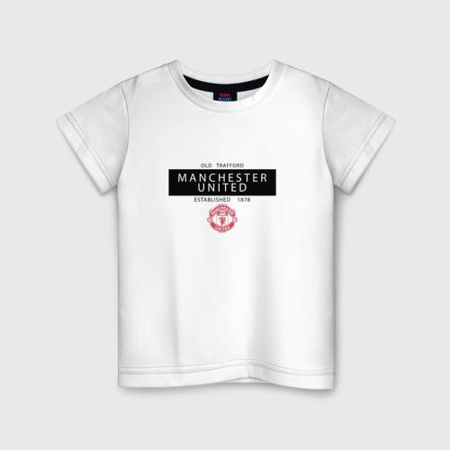 Детская футболка хлопок Manchester United - Established 1878 (чёрный)