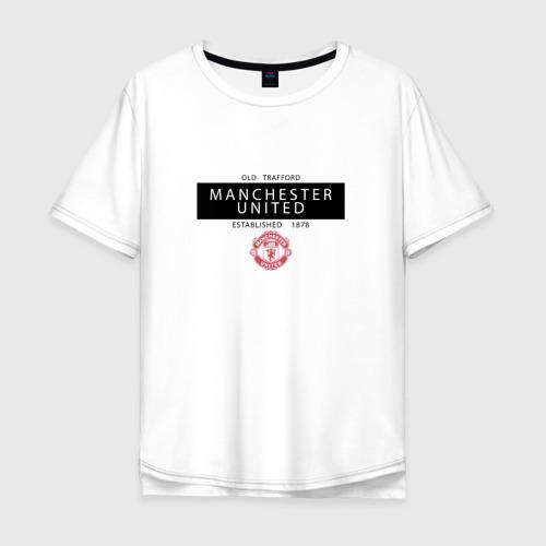 Мужская футболка хлопок Oversize Manchester United - Established 1878 (чёрный)