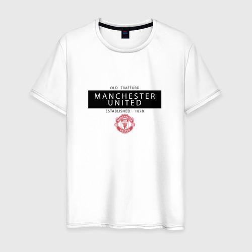 Мужская футболка хлопок Manchester United - Established 1878 (чёрный)