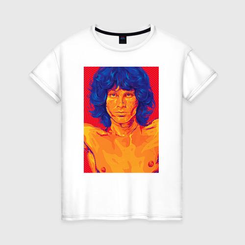 Женская футболка хлопок Джим Моррисон