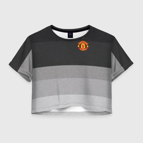Женская футболка Crop-top 3D Manchester United - Noise (Шум)