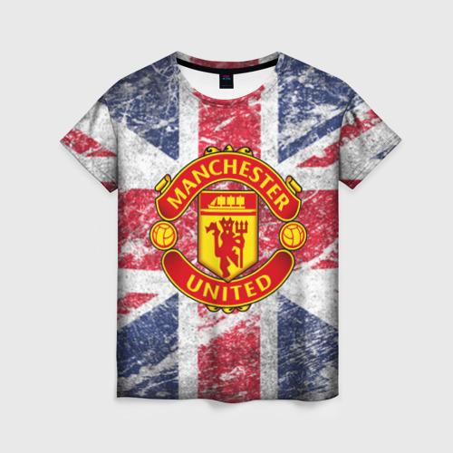 Женская футболка 3D British Manchester United