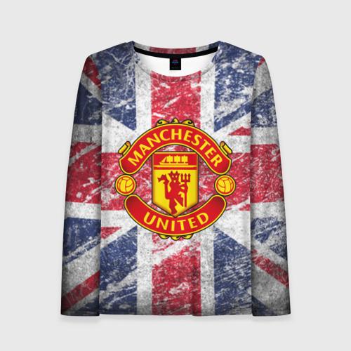 Женский лонгслив 3D British Manchester United