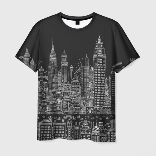 Мужская футболка 3D Мегаполис