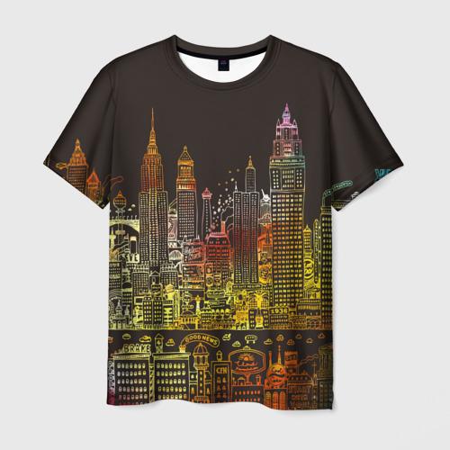 Мужская футболка 3D Мегапполис
