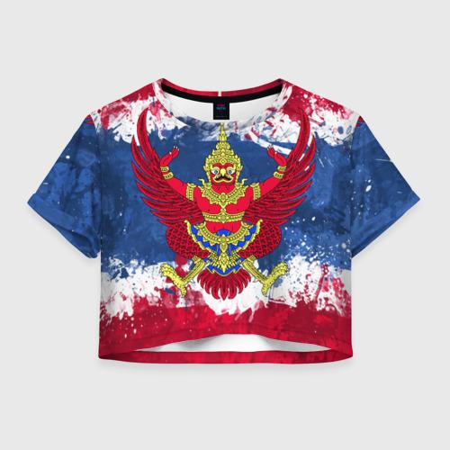 Женская футболка Crop-top 3D Таиланд