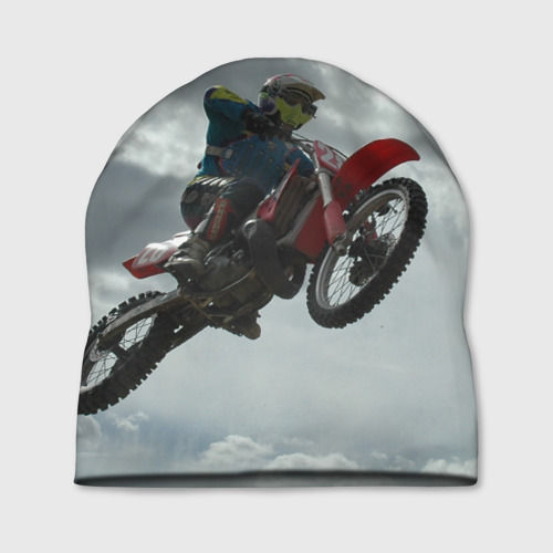 Шапка 3D Мото гонщик