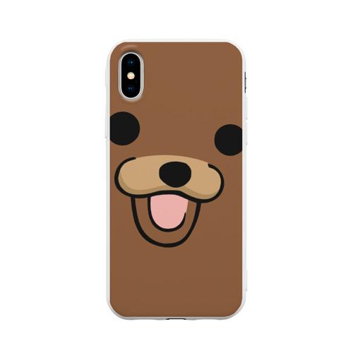 Чехол для iPhone X матовый Медведь
