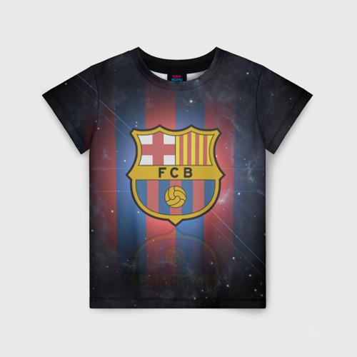 Детская футболка 3D Я фанат fc Barcelona!