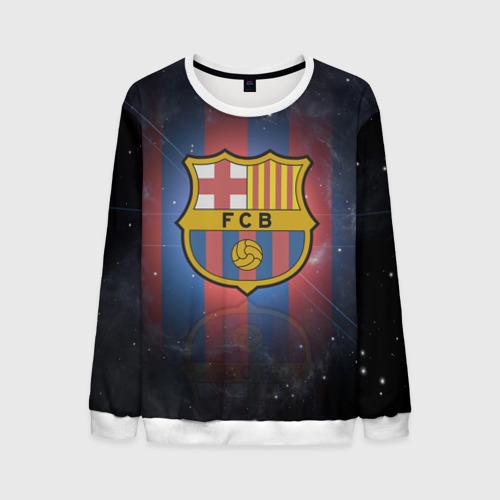 Мужской свитшот 3D Я фанат fc Barcelona!