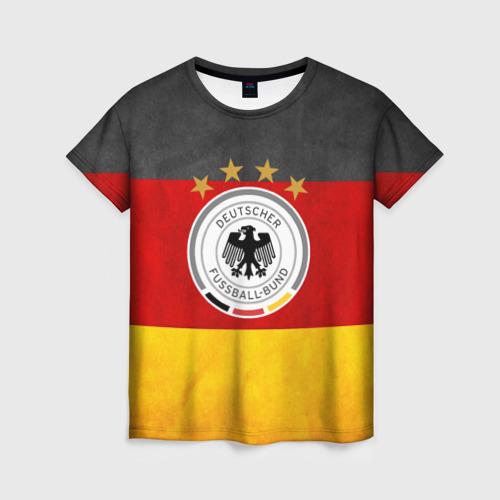 Женская футболка 3D Сборная Германии