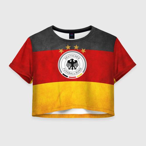 Женская футболка Crop-top 3D Сборная Германии