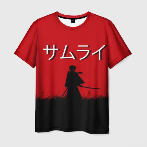 Мужская футболка 3D Самурай X
